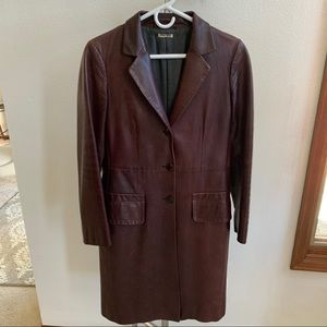 Leather Miu Miu long jacket